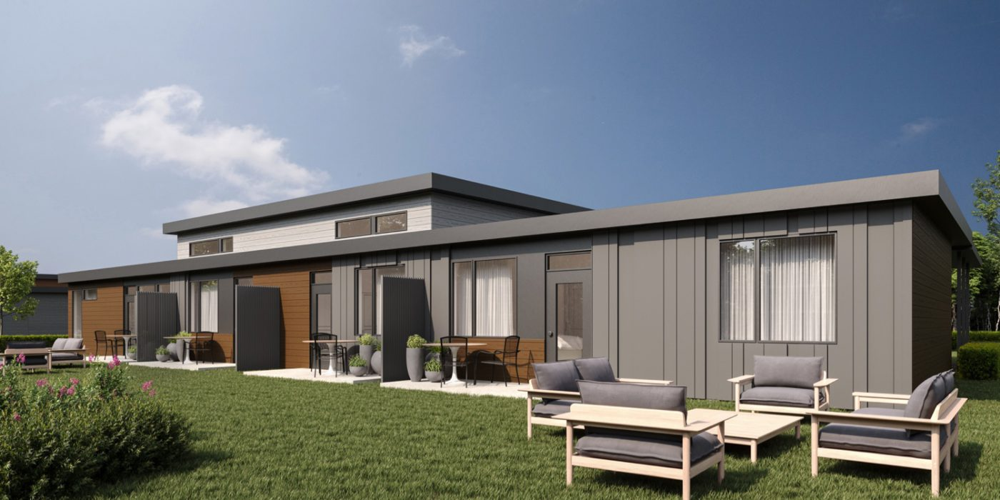 Wellings of Winchester Unit 2 Charcoal Carob Grey Backyard